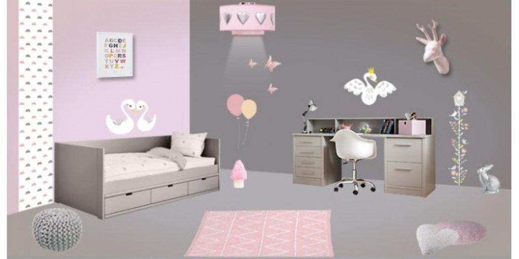 Beautiful Chambre Fille Rose Et Gris Galerie - Photos et idées ...