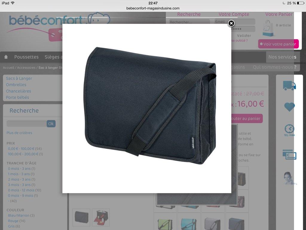 2014 Bébé Streetybag Confort Total À Sac Langer Black wq10ZxF04t