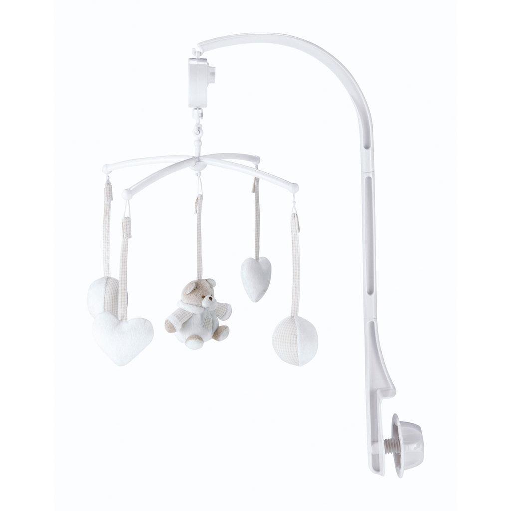 mobile musical bb blanc pastel ourson with tapis marelle maison du monde. Black Bedroom Furniture Sets. Home Design Ideas