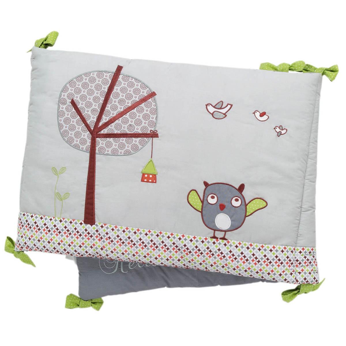 Tour de lit chouette chambre fille orange rose tour de lit mauve thme oiseaux ribambelles with - Tour de lit bebe fille pas cher ...
