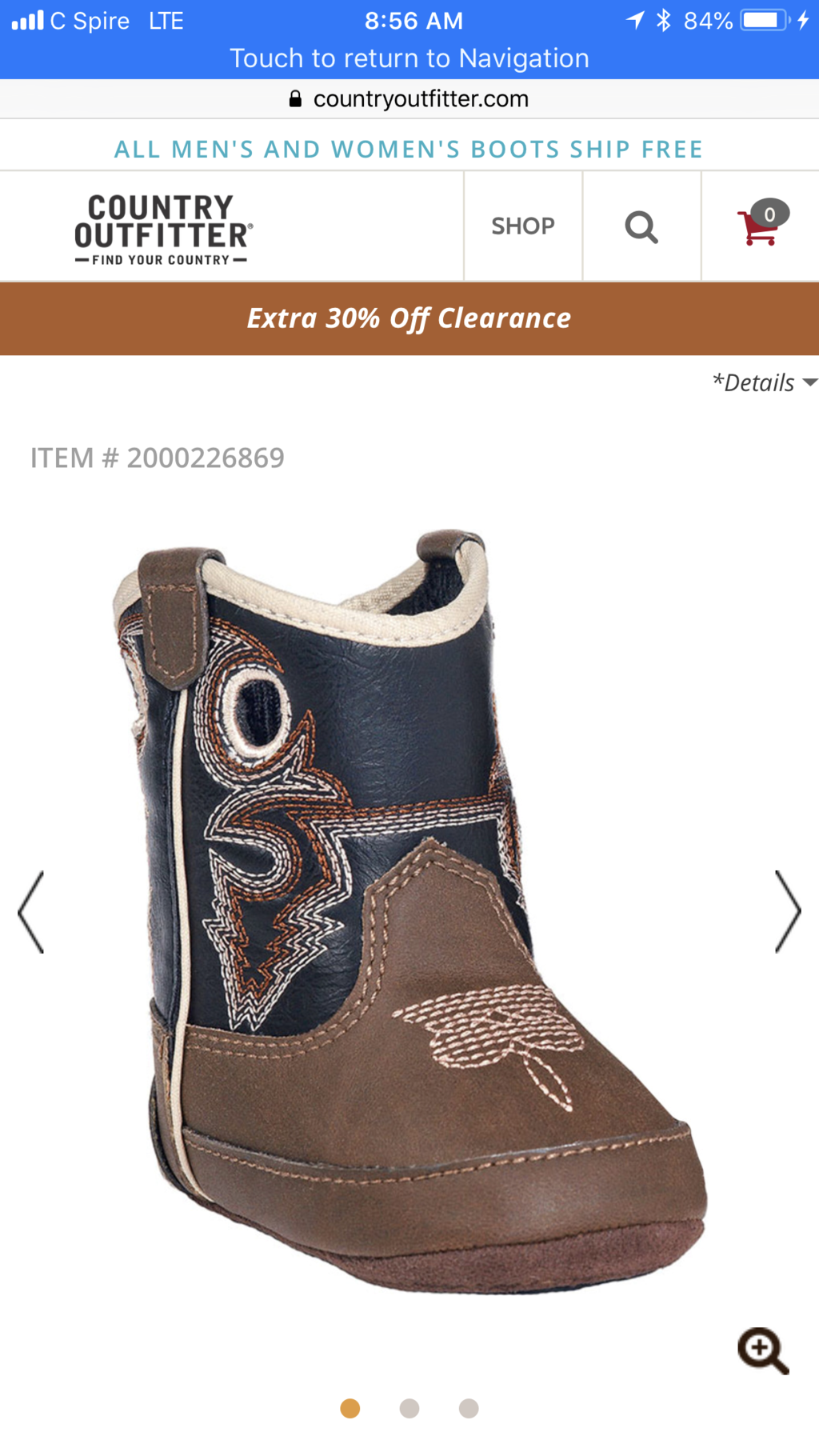 9f77a280858c3 61. Double Barrel Infant Boys' Trace Baby Bucker Boots - Round Toe -  Country Outfitter